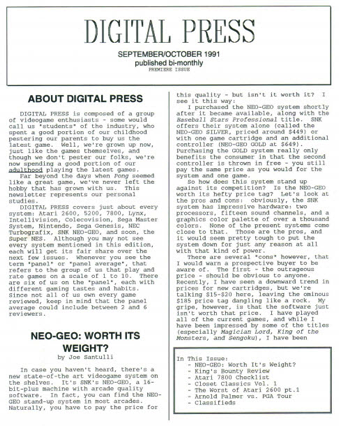 1st issue of Digital Press published