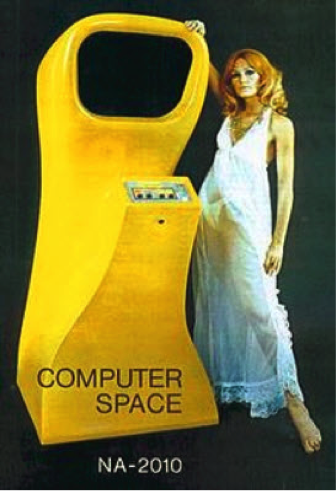 1st commercially available arcade video game – Computer Space